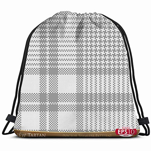 Highland Dance Costumes Scotland - New Tartan Abstract Vintage Drawstring Backpack Gym Dance Bags For Girls Kids