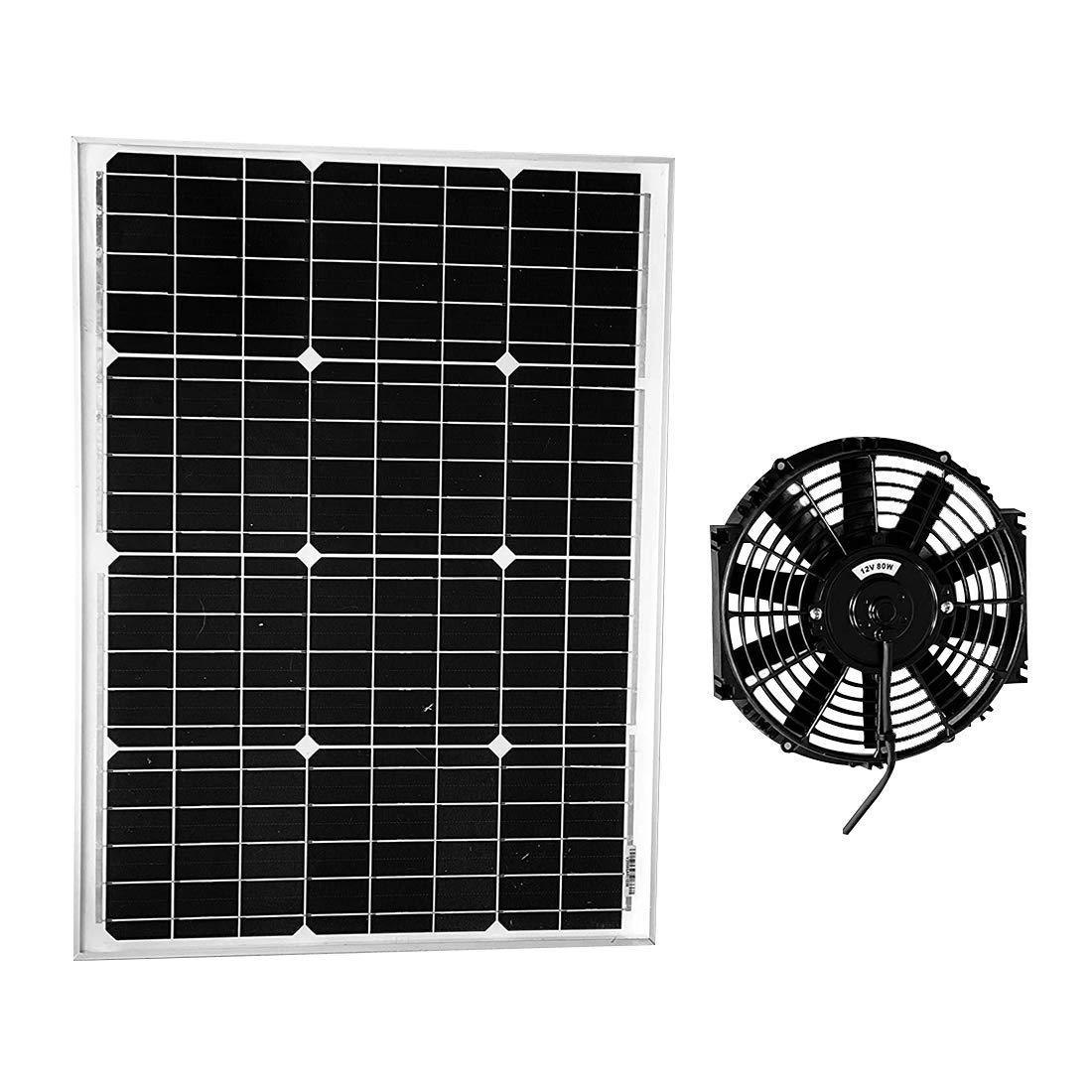 Amtrak Solar's Powerful 50-Watt Fan for Barn