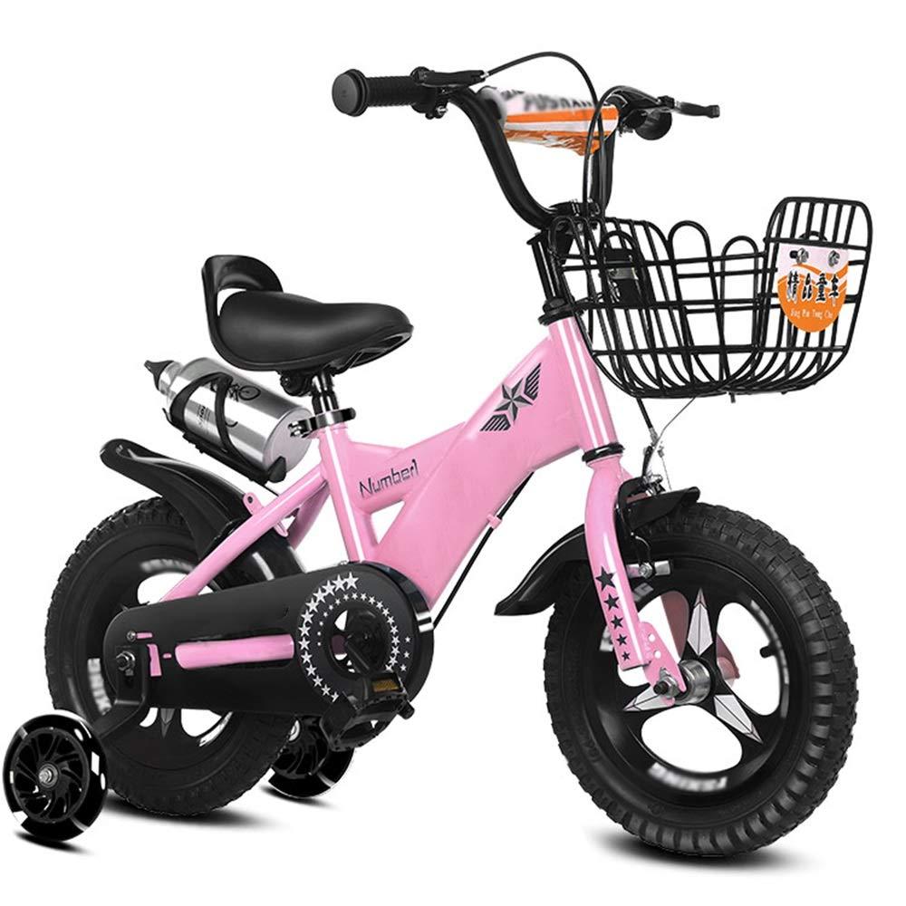 Axdwfd Bici per Bambini Biciclette per Bambini Biciclette per Bambini 12 14 16 18 Pollici Ragazzi e Ragazze in Bicicletta, Adatto per Bambini 2-19 Anni Blu, rosa, Viola