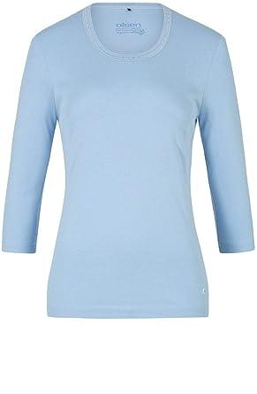 34 Shirt Manches 46Amazon T Olsen Femme Bleu 0wP8knOX
