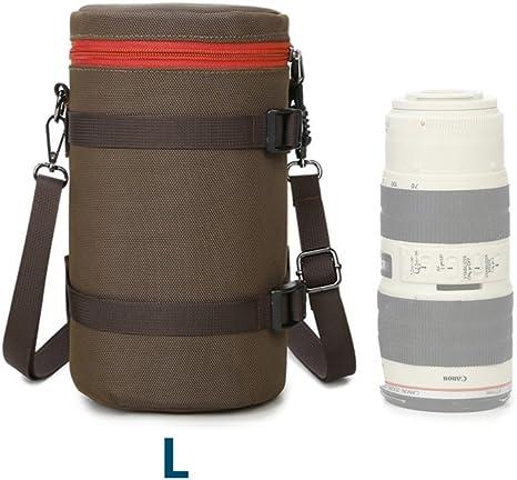 HomyWord Estuche para bolsa de lente gruesa / Estuche para lente / Bolsa para lente con correa para el hombro para cámara réflex digital para Canon 70-200 / 2.8IS (L): Amazon.es: Electrónica