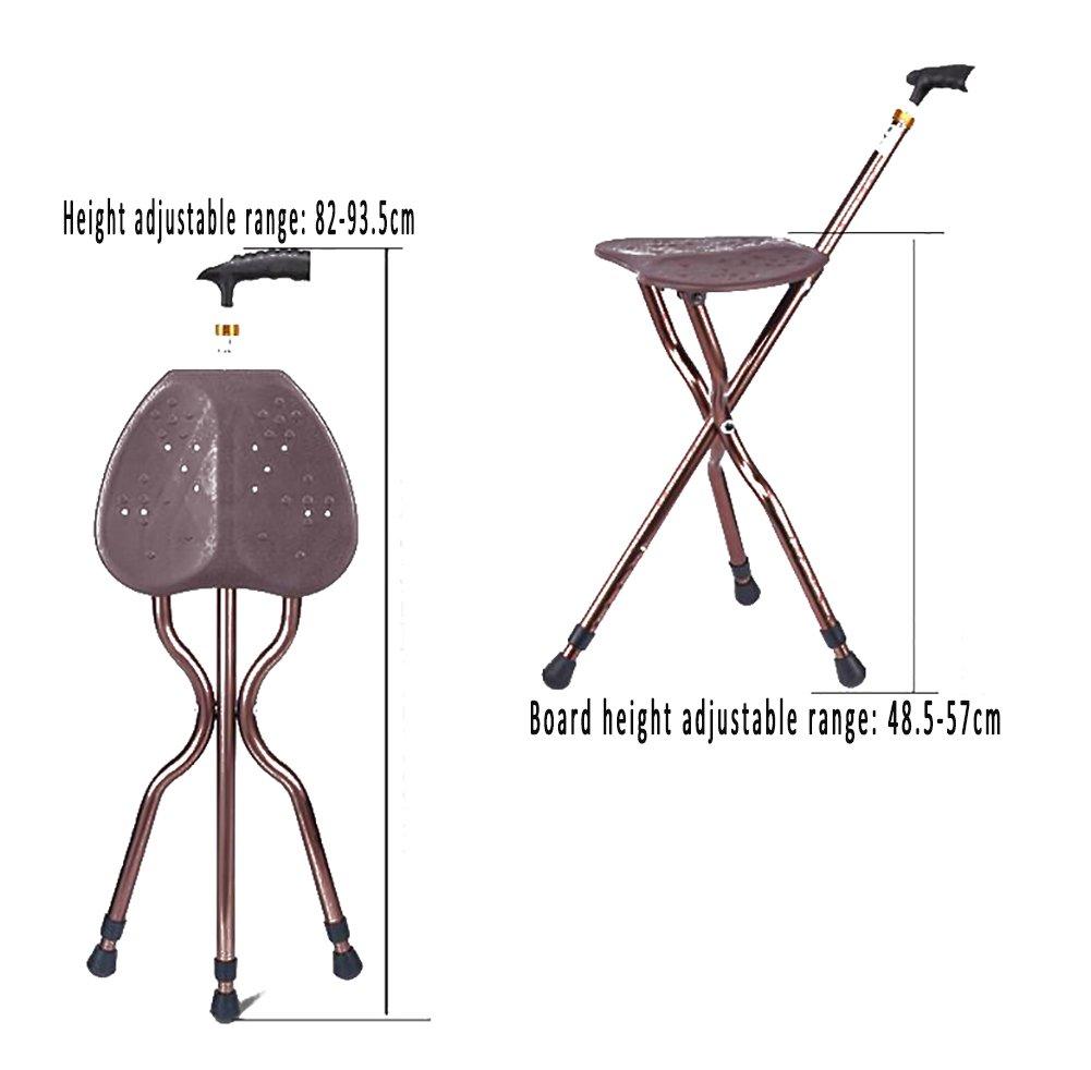 Gm Adjustable Folding Walking Cane Chair Stool Massage