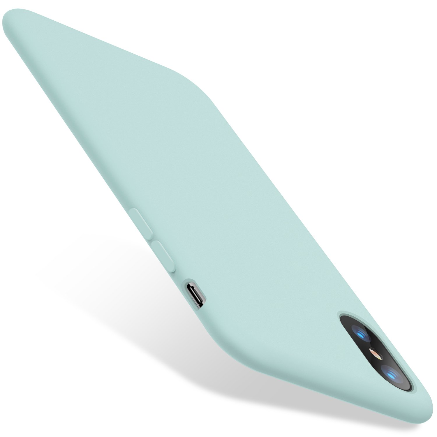 TORRAS [Love Series] iPhone X Case, Liquid Silicone Gel Rubber Shockproof Case Soft Microfiber Cloth Lining Cushion Compatible iPhone X (2017), Mint