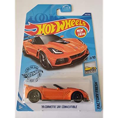 Hot Wheels 2020 Factory Fresh '19 Corvette ZR1 Convertible, Orange 144/250: Toys & Games