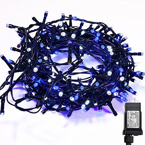 White Christmas Tree Blue Led Lights in US - 5