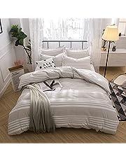 Hibertex Seersucker Stripe 100% Cotton Yarn Dyed Quilt Cover Set