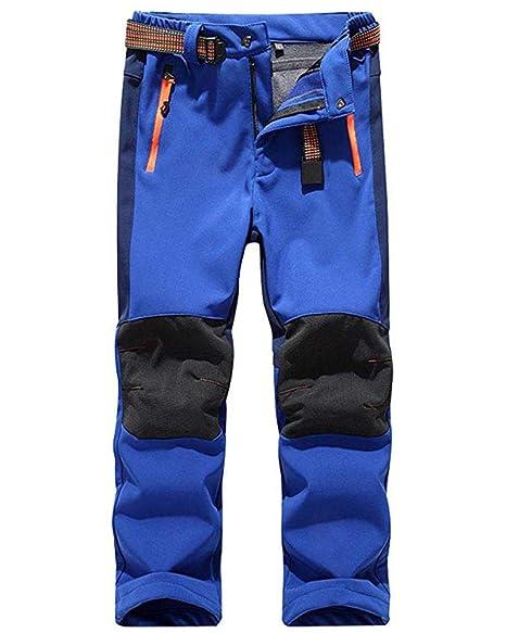 LANBAOSI Kids Boys Girls Waterproof Outdoor Hiking Pants Warm Fleece Lined