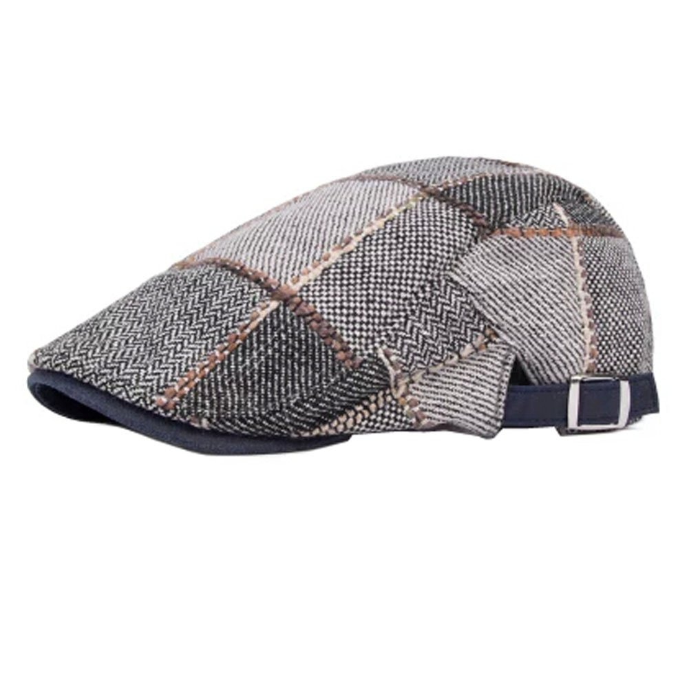 Trendy Design Cotton Flat Cap Newsboy Caps Cabbie Driver Hunting Hat, NO.06 Kylin Express