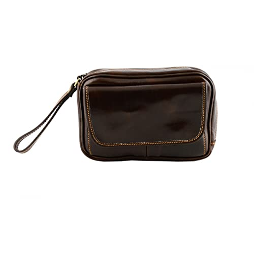 a6ae2e44e786 Made In Italy Genuine Leather Clutch For Men Color Dark Brown Tuscan Leather  - Man Bag  Amazon.co.uk  Shoes   Bags
