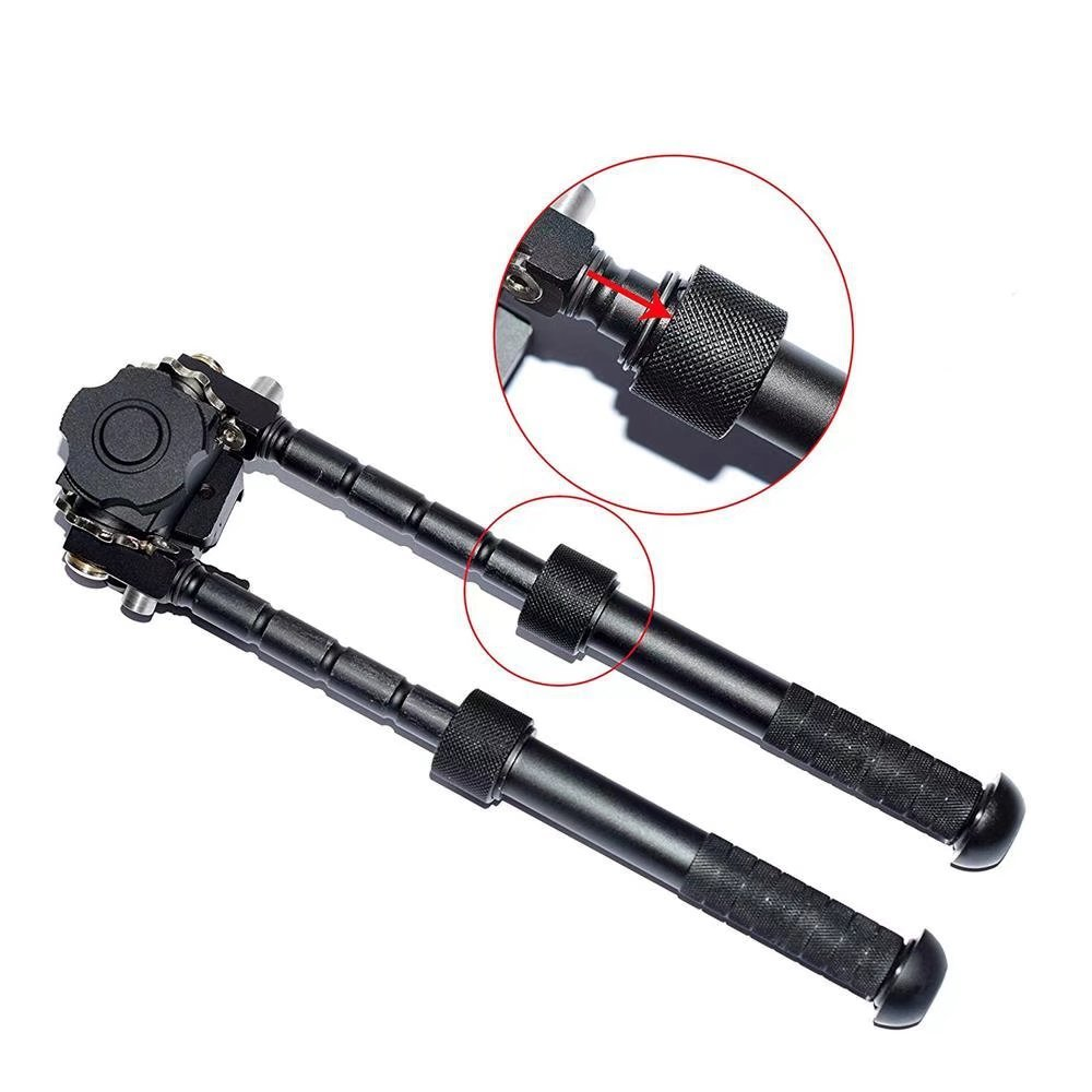 JahyShow Tactical Rifle Bipod Outdoors CNC QD Adjustable Fit Picatinny Rail (Black, 6.5 - 9 inch) by JahyShow (Image #5)