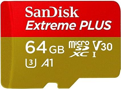 SanDisk Tarjeta de Memoria Extreme Plus 64 GB microSDXC para ...