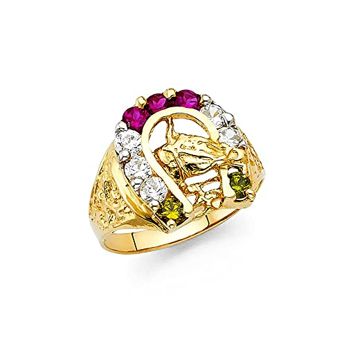 14K Gold plated childrens Horse Ring Lifetime warranty