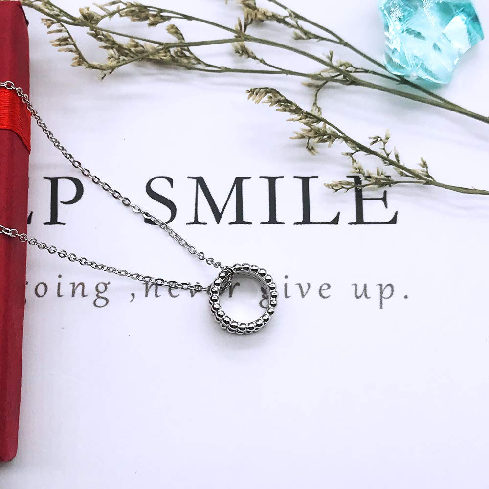 Necklace Pendant 925 Sterling Silver Jewelry Rolo chain White Gold Plated Women girls Jewelry Birthday Gift