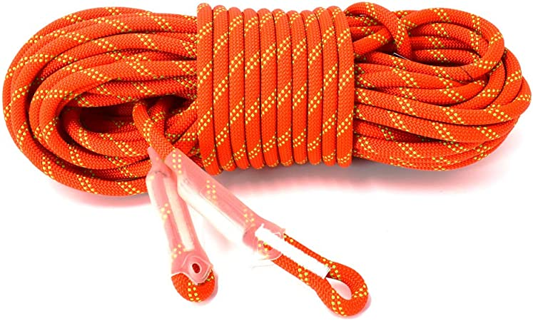 DoMyfit - Cuerda estática de 11 mm para acampar y escalar en roca, 26 KN, cuerda de seguridad de alta resistencia para trabajar en equipo de escalada ...