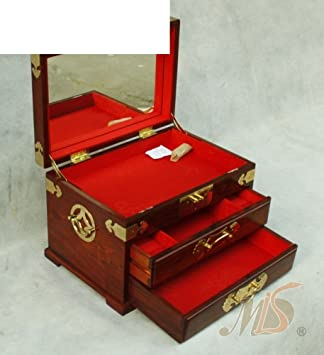 Amazoncom jewelry boxes highend jewelry box gifts Red Tan