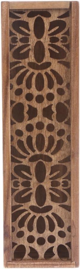 follwer0 en bois creux-sculpt/é bo/îte /à crayons de crayon multifonctions cas pour les /étudiants cadeaux sp/éciaux pour les enfants//enfants