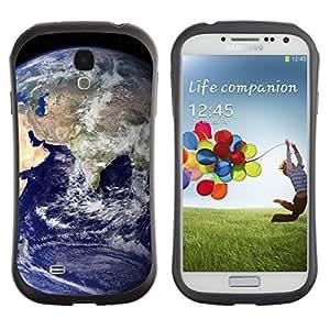 LASTONE PHONE CASE / Suave Silicona Caso Carcasa de Caucho Funda para Samsung Galaxy S4 I9500 / Blue Planet Earth Home View Space Distant
