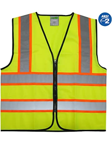 Orange Work Reflective Jacket Safety Mesh Vest With 3m Tape Fancy Colours Security & Protection
