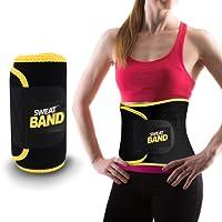 Sweat Band Faja Deportiva de Sudoración para Abdomen y Cintura, Ideal para Gym, Ejercicio y Entrenamiento Cardio o Crossfit