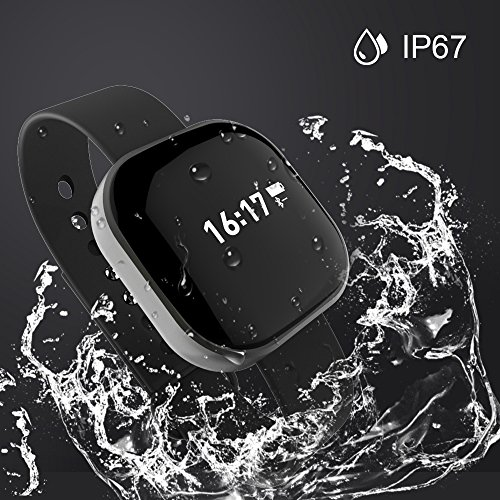 Korjo Fitness Tracker Smart Wristband for Women Bluetooth 4.0 IP67 Waterproof Smart Watch with Call SMS Reminder, Sport Activity Monitor, Sleep Monitor Health Tracker Bracelet for iPhone & Android