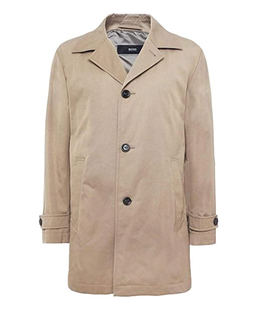 89d2de01f Amazon.com: Hugo Boss Men's Dais 5 Water Repellent Trench Coat 48 Regular  48R Khaki: Clothing