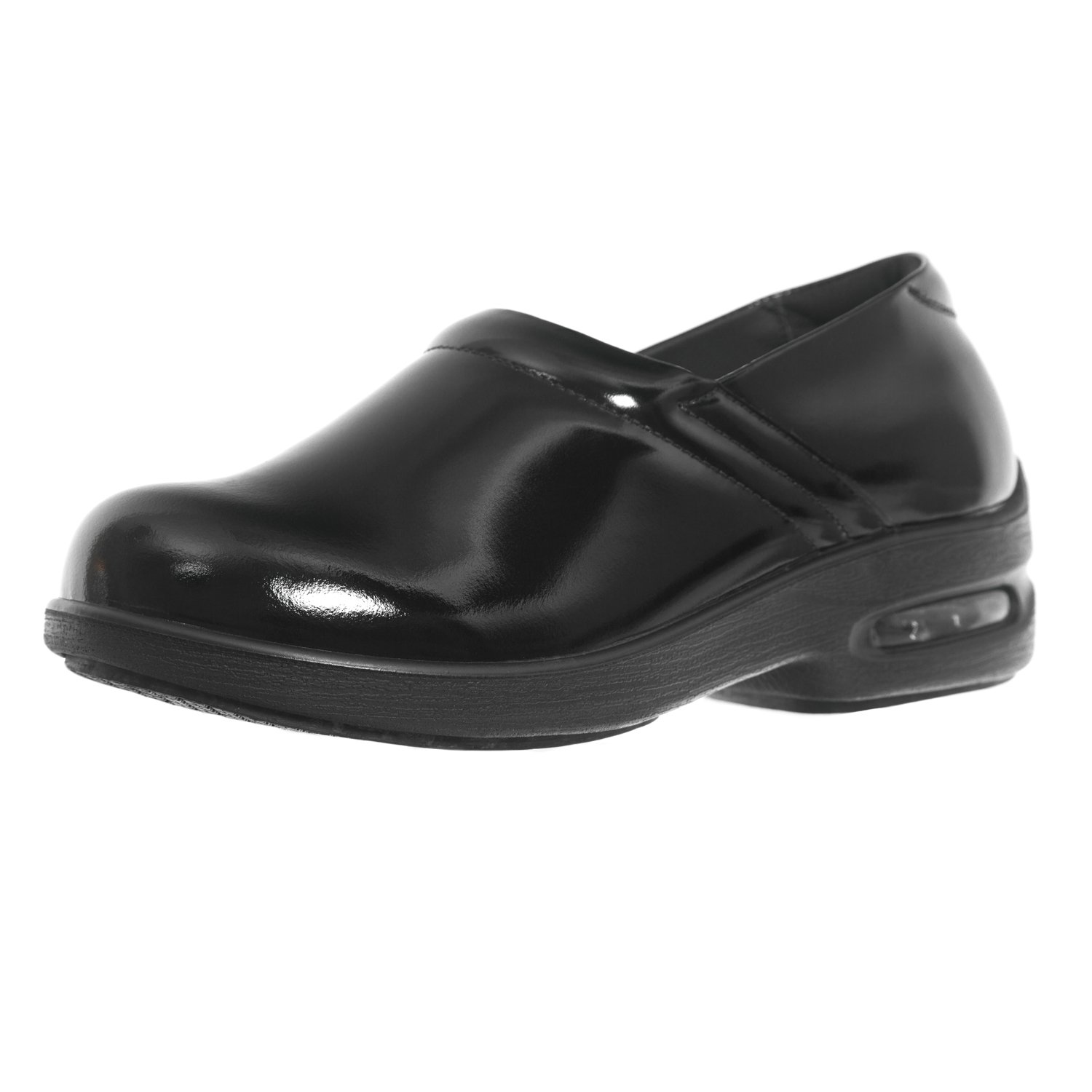 Shoes For Crews Women's Air Clog Leather Shoes 9071 Size 8 Black