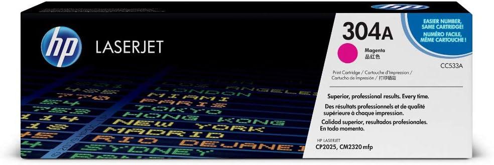 Hp 304a Cc533a Original Toner Für Hp Color Laserjet Cp2025 Cm2320 Magenta Bürobedarf Schreibwaren