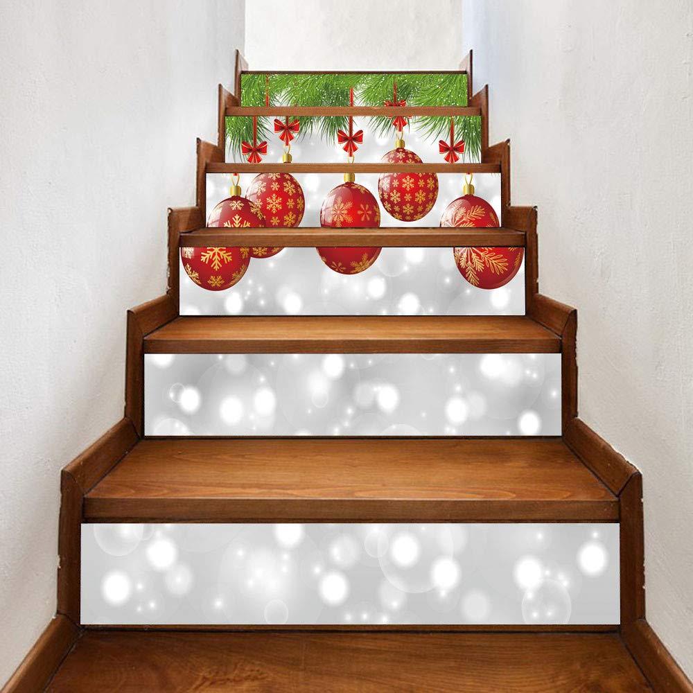 Amphia - Weihnachten 3D Simulation Treppe Aufkleber Wasserdichte ...