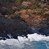 'New Black Sand Beach' Kilauea East Rift Zone 2018 lava Eruption, Hawaii Island - large unframed original print direct from Big Island photographer Harry Durgin