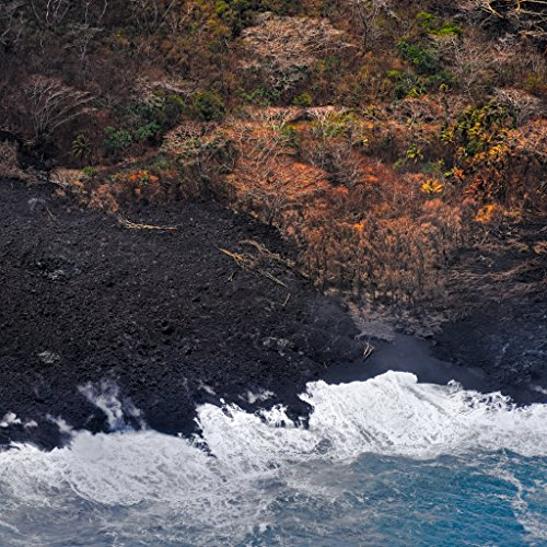 'New Black Sand Beach' Kilauea East Rift Zone 2018 lava Eruption, Hawaii Island - large unframed original print direct from Big Island photographer Harry Durgin by Tanglewood Gallery