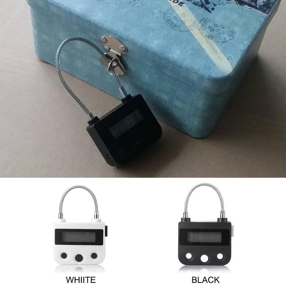 1pcs Mehrzweck Zeit Schloss Wasserdicht USB Aufladbarem Timing Vorhängeschloss