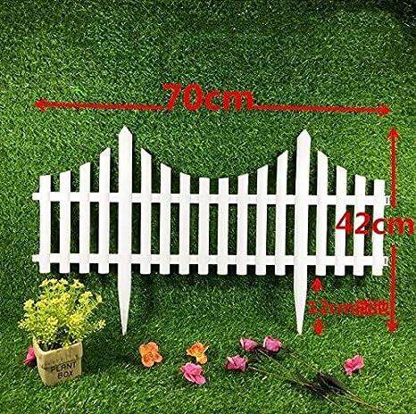 LILACORP 5 Vallas de plástico para jardín, fáciles de Montar, Estilo Europeo, Color Blanco, para decoración de Jardines y Patios: Amazon.es: Jardín