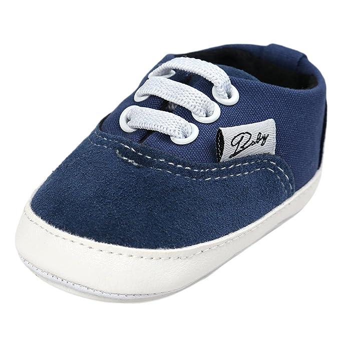 e7e3bdcc43294 Sharplace Chaussures Bébé Semelle Souple Sneaker Sport Lacet Coton   Amazon.fr  Chaussures et Sacs