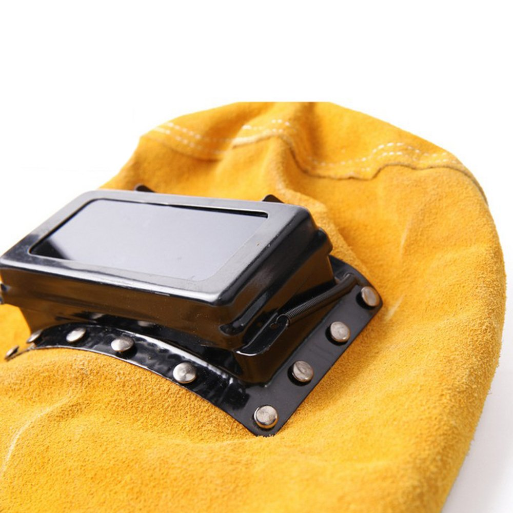 Amazon.com: LINGJUN Leather Hood Welding Helmet Filter Lens Welder Mask New: Home & Kitchen