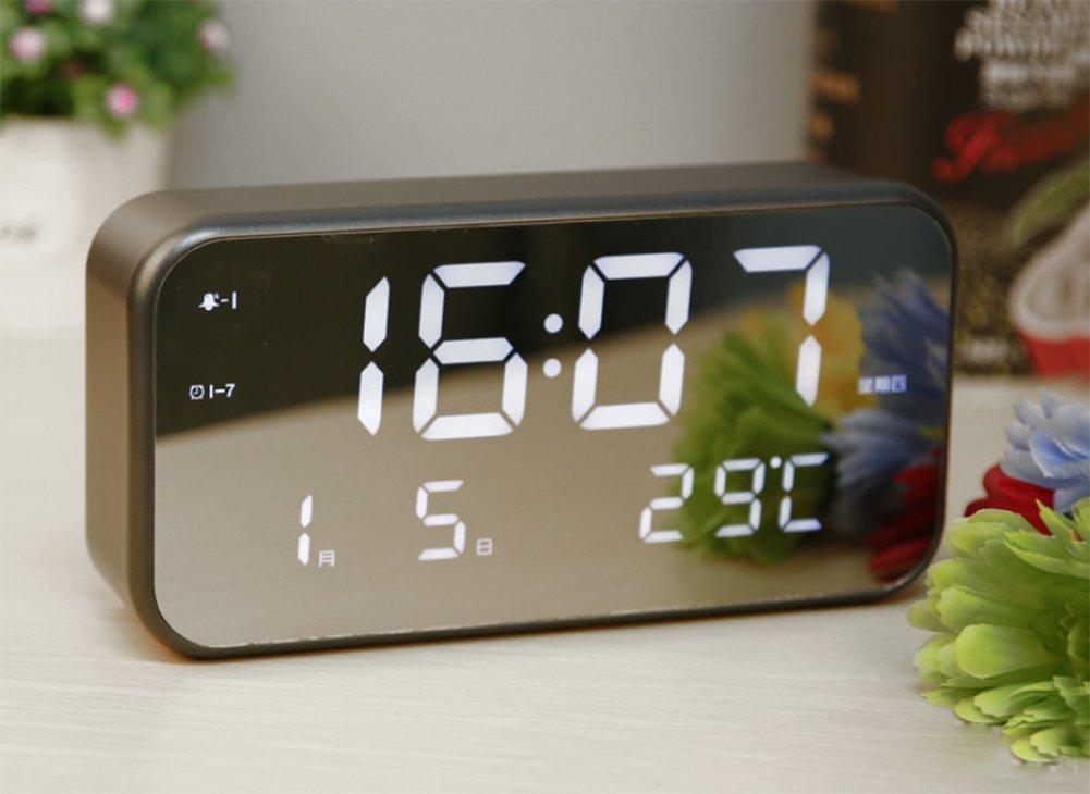 Smart Wecker,LED Kreative Elektronische Uhren,Leuchtender Stummer Wecker-C