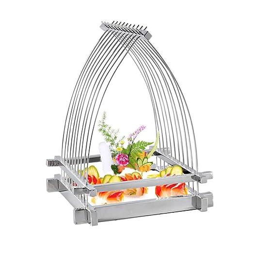 TIDLT Rack De Sushi De Acero Inoxidable, Soporte De Fruta De Jaula ...