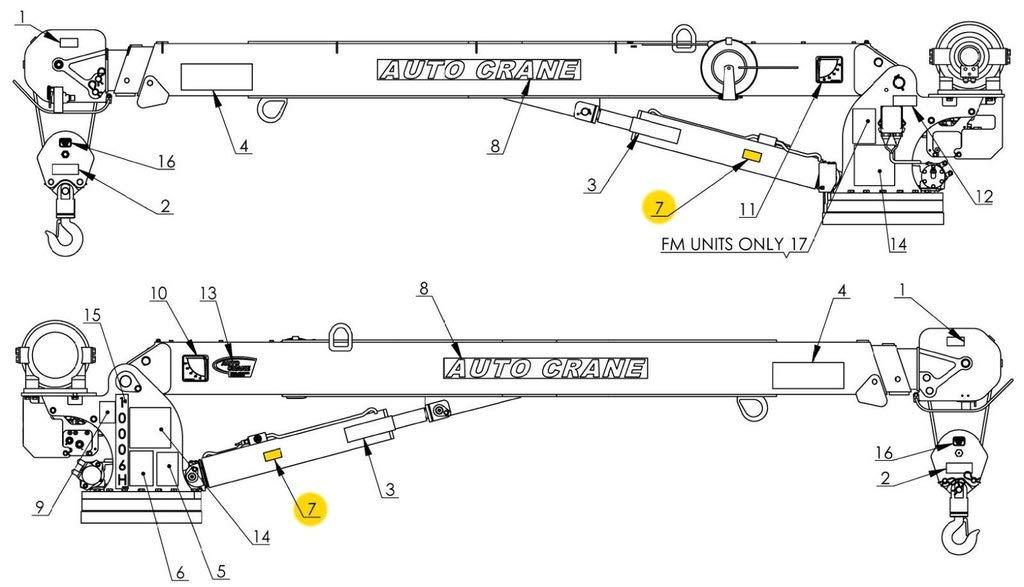 auto crane 10006h parts manual
