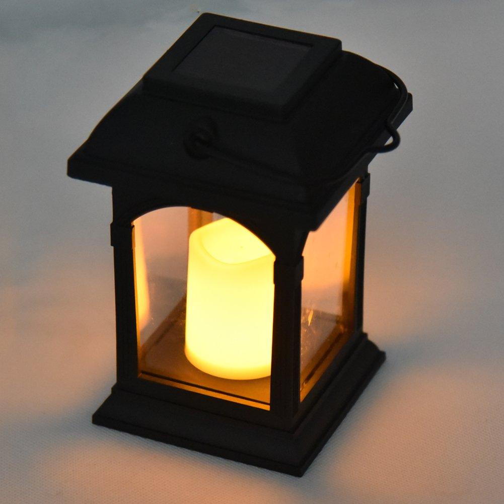 1 pcs Énergie solaire Jardin lumière extérieur Bougie vacillante Coach lampe LED Cafe Parapluie Lanterne à suspendre éclairage d'ambiance