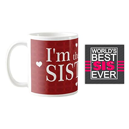 Buy YaYa CafeTM Birthday Gifts For Sister I M The Big Mug With Coaster Set Of 2 Online At Low Prices In India