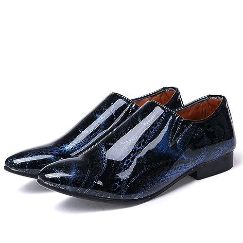 Moda Formal de Oxford Casuality Fashion Show para Hombre de los Zapatos Formales de Cuero de Charol con Cabeza en Color: Amazon.es: Zapatos y complementos