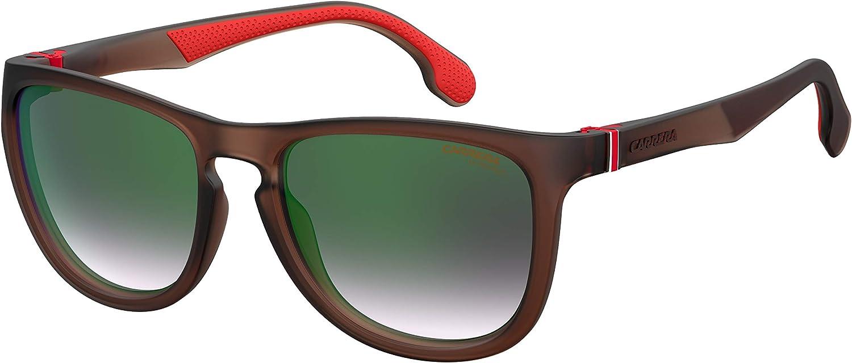 Carrera 8029//S Black//Dark Gray Gradient Lens Rectangular Unisex Sunglasses 57MM