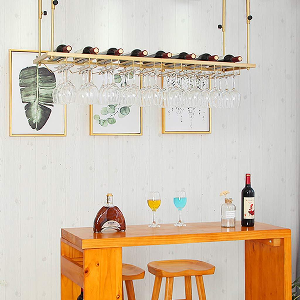 Porte-Verre /à vin dor/é Support de gobelet de Verre /à Pied de Plafond Supports de Bouteilles de vin Suspendus /Étag/ères de d/écoration en Verre