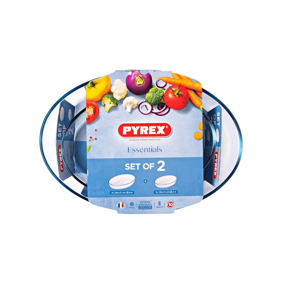 Pyrex 4937691 Fuente para Horno, Vidrio borosilicato: Amazon.es: Hogar