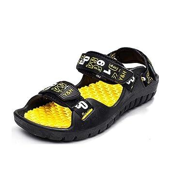 Verano Nuevos hombres Sandalias antideslizantes sandalias expuestas del dedo del pie Zapatillas de playa de doble