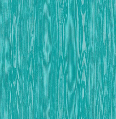 A-Street Prints 2744-24156 Illusion Aqua Faux Wood Wallpaper