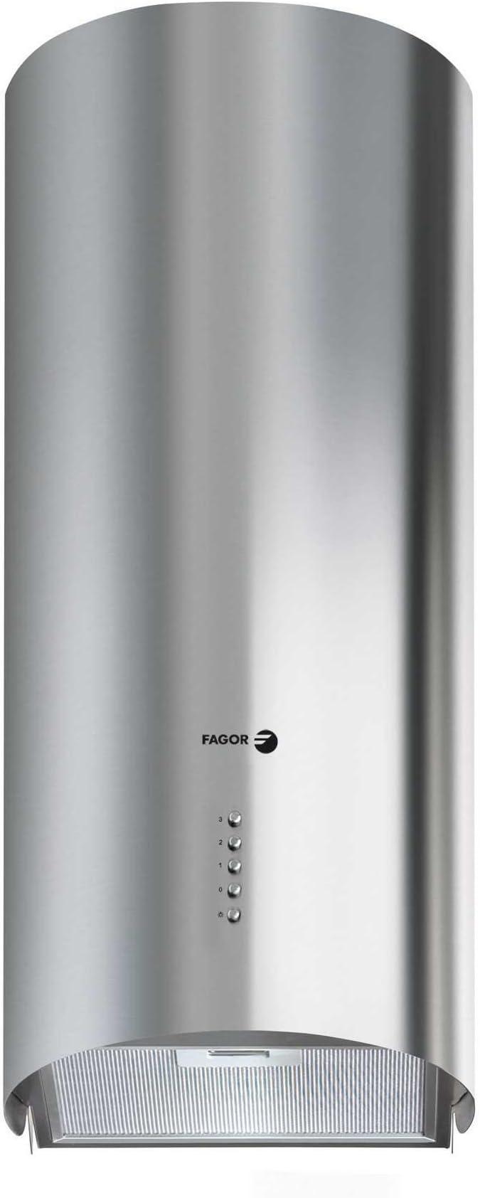 Fagor CFC-40AX - Campana (Recirculación, 605 m³/h, Isla, Halógeno, Acero inoxidable, 1 piezas): Amazon.es: Hogar