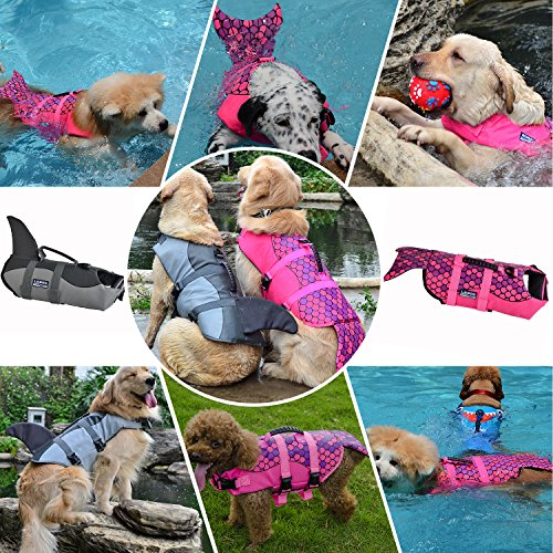 Pictures of Queenmore Dog Life Jacket Ripstop Lifesaver Coat 2