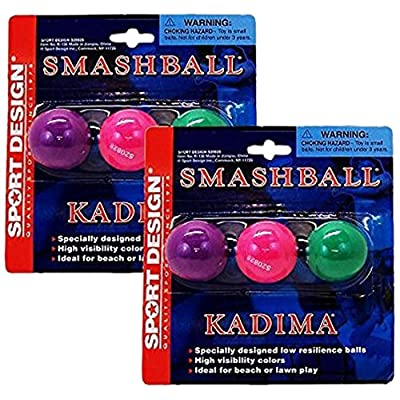 Sport Design Replacement Beach Balls for Beachball Smashball Kadima Watercolors, Set of 6: Sports & Outdoors