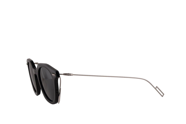 d00b6e262be Amazon.com  Christian Dior Homme DiorMaster Sunglasses Black w Grey Blue  Lens 47mm 807IR Dior Master Dior Master S DiorMaster S  Clothing