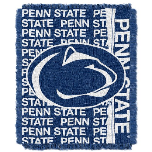 Nittany Lions Woven Jacquard - Penn State OFFICIAL Collegiate, Double Play 46 x 60 Triple Woven Jacquard Throw